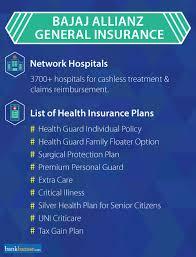 bajaj allianz health insurance plans