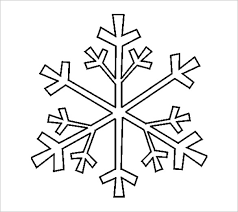 Printable Christmas Stencil Snowflake snowflake template with 6 points templates and samples on 30 day notice to landlord template word