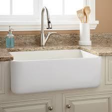 Bathroom Apron Sink 30 Durant Reversible Fireclay Farmhouse Sink Smooth Apron