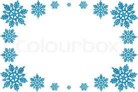 blue snowflakes white background. Plain Snowflakes Christmas Decorative Frame Of Blue Snowflakes On A White Background  Stock  Photo Colourbox Inside Blue Snowflakes White Background K