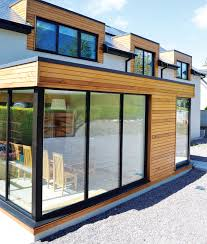 the large triple glazed windows allow a lot of light into the house and