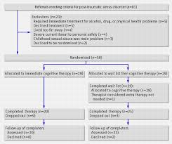 post traumatic stress disorder in the context of terrorism and  flow of patients through trial