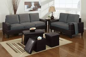 two tone living room furniture. picture of 5 piece two tone grey microfiber living room set furniture