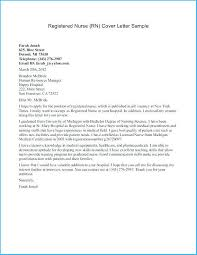 New Nurse Cover Letter Sample Exciting New Graduate Nurse Cover Letter As Examples Of