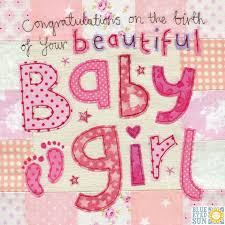 Congratulations On The Birth Of Your Beautiful Baby Girl Card Large Luxury New Baby Card