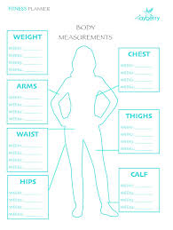 Workout Progress Charts Track Your Progress With This Body Measurement Chart Body