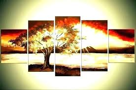 canvas wall art set of 4 for living room sets nature popular o