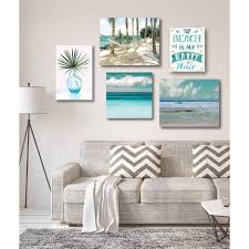 tropical tranquility gallery wall collection printed wall art 5 piece