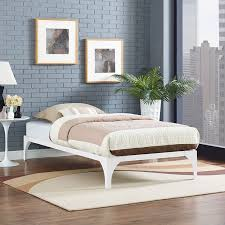 modern twin bed. Ollie Twin Bed Frame In White - Lifestyle Modern
