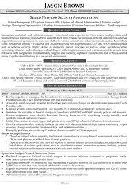 Network Administrator Resume Resume Templates