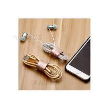 soyan 3pcs lot pu leather cord organizer holder headset headphone earphone wrap winder gold