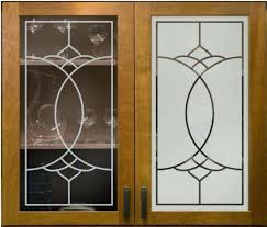 decoration image of easy frosted glass cabinet doors kitchen nz