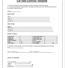 Vehicle Sales Agreement Template - Fast.lunchrock.co