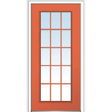 door. 36 In. X 80 Classic Left-Hand Inswing 15-Lite Clear Door