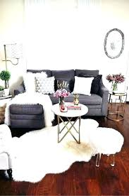 faux fur sheepskin rug grey under coffee table fascinating a chic and matching blanket pillow