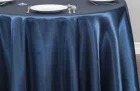 navy blue round satin tablecloth 108 tablecloths