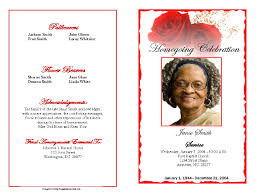 sample of obituary funeral program examples example program booklet