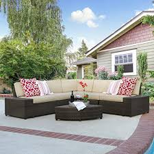 Amazon Best Choice Products Patio Furniture 6 Piece Wicker
