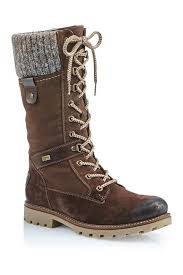 Rieker Size Chart Us Rieker Remonte Santana Wool Trimmed Lace Up Boot