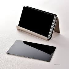 Stainless Steel Business Cards Maxdot 2 Pack Stainless Steel Business Cards Holders Desktop