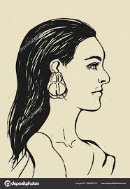 Write a review get directions. Beautiful Woman Long Black Hair Female Face Profile Fashion Icon Free Stock Vector C Sshisshka 199932714