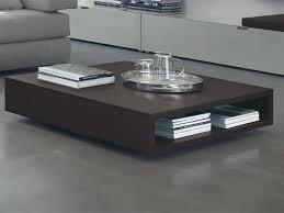 modern wood coffee table low