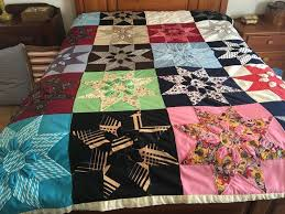 "72 best Vintage & Antique Handmade Quilts images on Pinterest ... & Vintage handmade 8 point stars w gathered flowers patchwork quilt 73"" x 92"" Adamdwight.com"