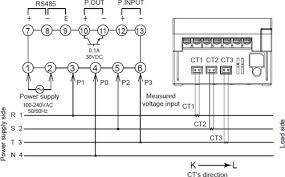 kw1m r eco power meter dimensions automation controls three phase four wire system three dedicated current transformers ct are required