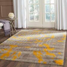 porcello light grey yellow 6 ft x 9 ft area rug