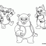 Small Picture Special Agent Oso Parachute Coloring Page Bebo Pandco