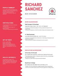 Resume Chart Red And White Chart Infographic Resume Templates By Canva