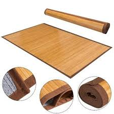 durable natural bamboo slats area rug pad floor carpet non skid in outdoor