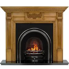 more views large adam wooden fire surround