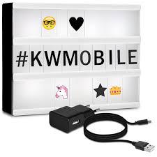 kwmobile led light box a4 lightbox 378 black letters numbers emoji symbols power