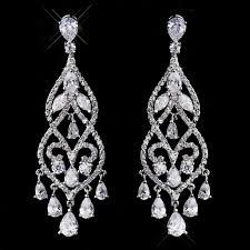 janessa wedding chandelier earrings enlarge 1