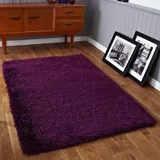purple soft deep superior high pile rug 150 x 230cm