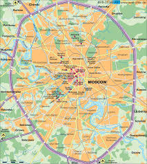 map of moscow (russia)  map in the atlas of the world  world atlas