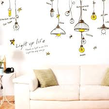 light wall decor personalized wall art decal decor sticker ceiling light regarding new property personalized wall