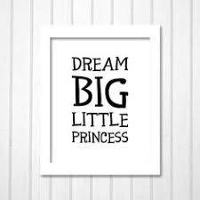 dream big little princess black white monochrome modern typography printable kids quote wall art on dream big princess wall art with hakuna matata disney lion king lettering red orange modern