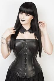 gothic overbust leather corset elc 401