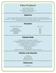 Resume Types Cool High School Student Resume Examples First Job Resume Templates First