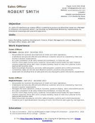 Objective For Resume In Sales Sales Officer Resume Samples Qwikresume