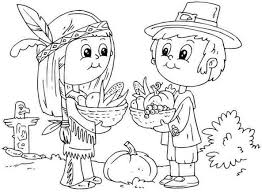 Thanksgiving Coloring Page Children S Pilgrim