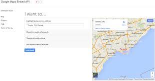 google maps embed api lets developers include maps in websites
