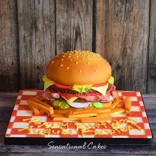 Burger Cake Design The Sensational Cakes Awesome Hamburger 3d Bespoke Cake