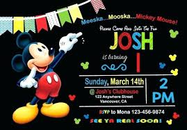 Make Your Own Mickey Mouse Invitations Mickey Mouse 2nd Birthday Invitations Create Your Own Mickey Mouse