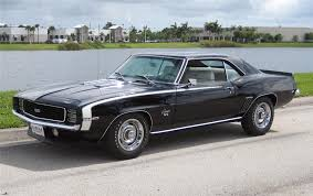 black chevy camaro 1969. Plain Camaro 1969 CHEVROLET CAMARO RSSS COUPE  Rear 34 63862 In Black Chevy Camaro L