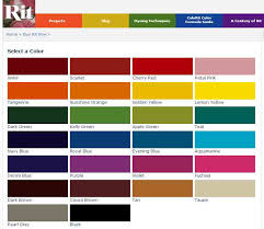 75 Up To Date Rit Dye Color Swatches