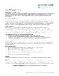 Best Photos Of Management Intern Job Description Actuarial Intern Resume  Sample ...