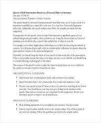 Speech Sample Magnificent 44 Speech Examples PDF